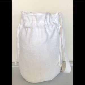 Nordic House White Terrycloth Beach Bag NWOT